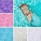 Внешний вид - Newborn Photography Props Rug Baby Photo 3D Rose Flower Backdrop Blanket 5Colors