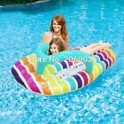 150*75cm Giant Inflatable Stripe Slipper Slice Flip Flop Pool Float Ride On Raft