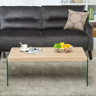 Wood At first glance + Glass Stand Modern Design Coffee Table Living Area Furniture