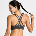 Women's  Strappy Back Padded Active Sport Yoga Bra Top