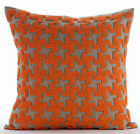 Orange Terracota - 16X16 inch Art Silk Orange Throw Pillow Covers
