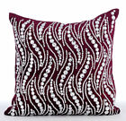 Crystals Bling 16X16 inch Velvet Purple Pillow Covers - Crystal Swirls