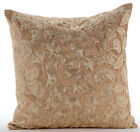 Gold Tulip Flower Gold Velvet 16X16 inch Cushion Covers - Golden Tulips