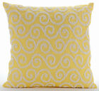Yellow Beaded Scroll 16X16 inch Silk Pillows Cover - Yellow Flavor