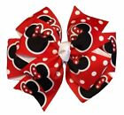 Red Mouse Pinwheel Hair Bow