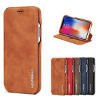 Slim Leather Flip Folio Case Card Slot Stand Cover for iPhone X 6 6S 7 8 Plus