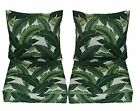 Set of 2 Deep Seating Furniture Chair Cushion - Tropical Palm Leaf - Choose Size