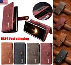 For Samsung Galaxy S8 Plus S7+ Flip Leather Removable Wallet Magnetic Case Cover
