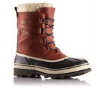 Sorel Mens 13 Caribou Leather Wool Boots Removable Liner Winter Snow Tobacco WL