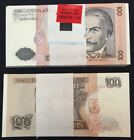 100 Serial Numbered Packet / Bundle - Peru 100 Intis, 1987, P-133, UNC's