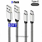 10FT Braided Type C Fast Charging Cable USB-C Fast Charging & Data Sync Cord LOT