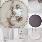 Soft Baby Kids Round Lace Game Gym Activity Play Mat Crawling Blanket Floor Rug