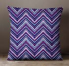 S4Sassy Pink Check Pillow Cover Decorative Pillow Cushion Cover Square Throw