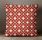 S4Sassy Decorative Pillows Geometric Throw Cushion Cover Maroon Indian Case