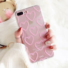 Love Heart Case For iPhone X 6 6S 7 8 Plus Cases Soft TPU Clear Back Cover Cases