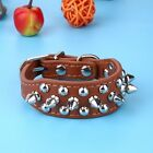 Pet Leather Dog Collar Adjustable Sharp Spiked For Medium Large Dog Fashion