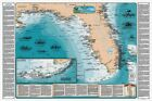 Florida and the Eastern Gulf of Mexico Shipwreck Map Chart-Nautical print poster