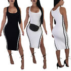 sexy women breast - Sexy Women Sleeveless Double-breasted Bodycon Cocktail Casual Clubwear Dress