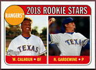 2018 Topps Heritage Texas Rangers Baseball Card Your Choice - You Pick
