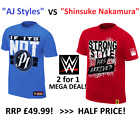 WWE AJ Styles vs Shinsuke Nakamura T Shirt 2 for £25 WRESTLEMANIA DEAL RRP 49.99