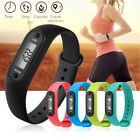Digital LCD Run Walk Watch Bracelet Step Pedometer Counter Waterproof Colorful