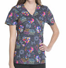 Disney Star Wars V Neck Darth Vader Medical Nurse Mock Wrap Scrub Shirt Top $50.88 CAD