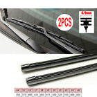 "2PC 6mm /8 mm Car Auto Rubber Metal Wiper Blade Refill 14""/16""/22""/24""/26"""