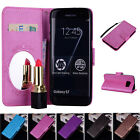 Mirror Case PU Leather Wallet Flip Stand & Card Slot Cover for Samsung S7 Edge