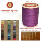 "Fil Au Chinois 50g ""Lin Cable"" WAXED LINEN thread #218 VIOLET, 5 sizes avail"