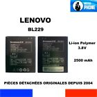 BATTERIE ORIGINALE LENOVO BL229 BL 229 2500mAh 3,8V 9,5Wh GENUINE BATTERY OEM