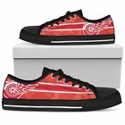 New Detroit Red Wings Men's Low Top Shoes