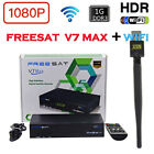 Freesat V7 Max DVB-S2 HD FTA Satellite Receiver 4k box support Bisskey +USB WIFI