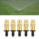 10x Adjustable Brass Spray Sprinkler Heads Misting Watering Irrigation Nozzle .