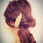 Newly Women Leaf Feather Hair Clip Hairpin Barrette Bobby Pin Hair Accessories