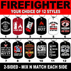 DOG TAG NECKLACE FIREFIGHTER #SN3 Fire Man Dept Hero First R