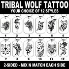 DOG TAG NECKLACE - TRIBAL WOLF TATTOO PICK 1 Native Wolves Howling Spiritual