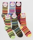 6 pairs Womens Crew Dress Socks Colorful Solid Striped Sz 9-11 CHOOSE PACK