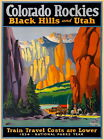 94406 Colorado Rockies Black Hills Utah Train United Decor WALL PRINT POSTER FR on Ebay