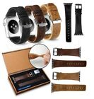 42mm Strap Band Genuine Leather Apple Watch Series 3 2 1 band BROWN / Black image