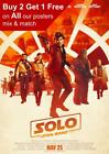 Solo A Star Wars Story Movie Poster A5 A4 A3 A2 A1 £2.99 GBP on eBay