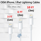 OEM apple lightning cable 3 6 10 ft usb charger adapter for iphone 5s 6s 7 8 X