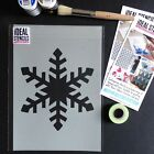 Christmas Stencils Window Decorations Shop Reveal Art Crafts Snowflake Design