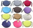 Luxury Round Removable Cushion Chair Seat Pad With Ties On Office Outdoor Garden
