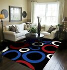 Current Area Rugs 8x10 Circles Blue Rugs For Living Room Black Carpet 5x7 Rug 2x3