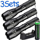Tactical T6 Super Bright LED Rechargeable Zoomable Flashlight Torch Light