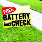 free battery check - Battery Check Service Free Workshop Business Advertising Coroplast Yard Sign