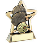 Mini Star Table Tennis Trophy Bats & Ping Pong Ball Award -FREE Engraving Budget
