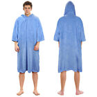 changing robe - Hooded Poncho Towels Changing Robe w/ Sleeve Pocket for Adults Surfer Swimmer