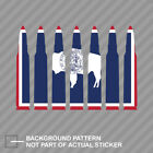 Wyoming Flag Bullet Ammo Sticker Decal Vinyl WY .223 5.56mm 2a 2nd gun rights
