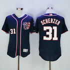 Washington Nationals 31 Max Scherzer Navy Jersey